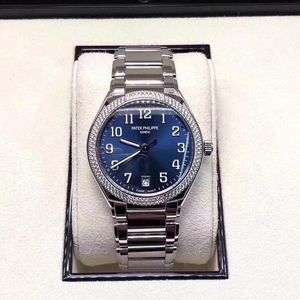 PATEK PHILIPPE 百达翡丽7300新款钢王原镶钻石机械手表