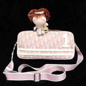 Dior 迪奥数字限量款粉白老花横版相机包单肩斜挎包