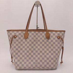 Louis Vuitton 路易·威登白棋盘格中号购物袋