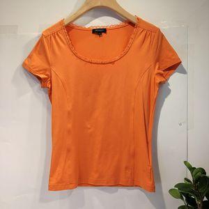 Burberry 博柏利YF04039热情橙色高级棉短袖T恤