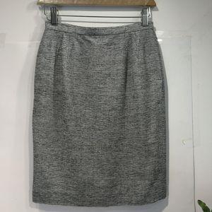 Dior 迪奥YF04057黑白混织百搭羊毛半裙铅笔裙