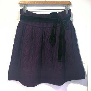 Burberry 博柏利YF04046高贵紫100%高端羊毛编织半身裙