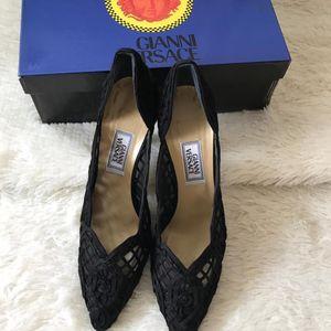 Versace 范思哲黑色低跟鞋