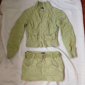 ARMANI 阿玛尼淡绿色休闲套装