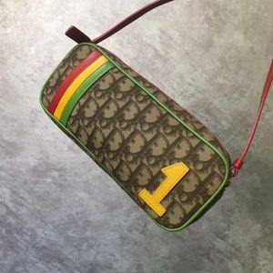 Dior 迪奥牙买加彩虹手提单肩包