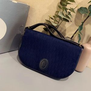 Dior 迪奥蓝色老花手包