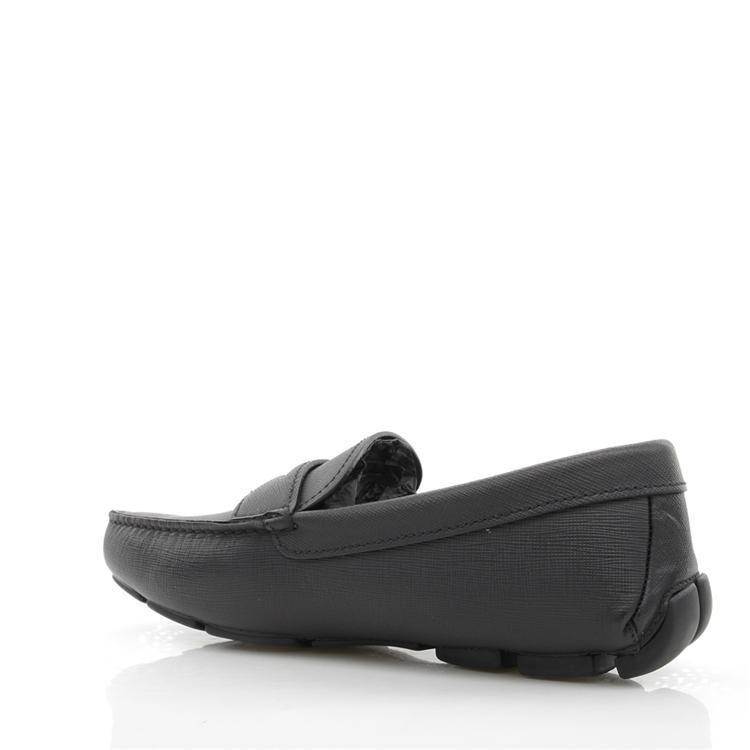 PRADA 普拉达男士真皮十字纹休闲鞋