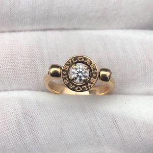 BVLGARI 宝格丽玫瑰金翻转式钻石戒指