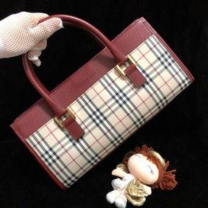 Burberry 博柏利经典战马格纹手提包