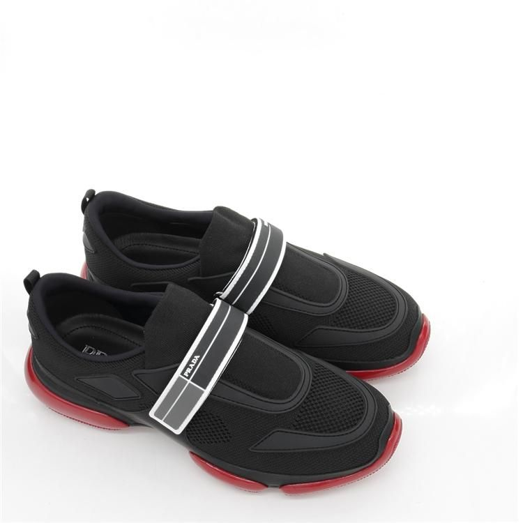 PRADA 普拉达男士魔术贴舒适休闲低帮鞋