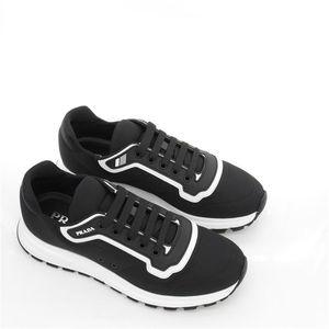 PRADA 普拉达夏季男士织物休闲运动低帮鞋