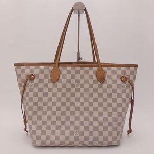 Louis Vuitton 路易·威登白棋盘格子中号手提包