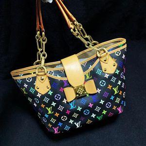 Louis Vuitton 路易·威登蝴蝶结限量款黑三彩手提包