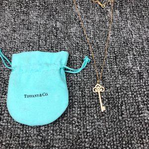 Tiffany & Co. 蒂芙尼keys系列玫瑰金鸢花满钻钥匙项链
