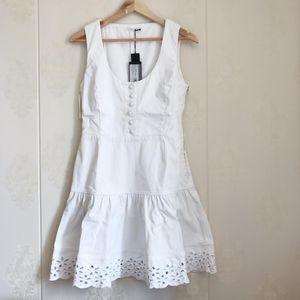 PRADA 普拉达女士白色牛仔裙