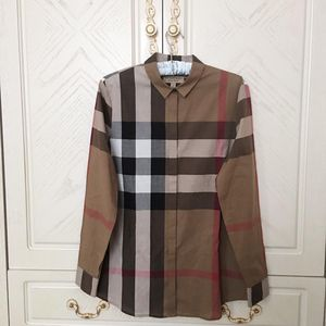 Burberry 博柏利经典格纹纯棉女士衬衫