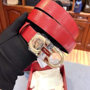 Ferragamo 菲拉格慕窄版女士红色拼黑色双面两用腰带