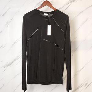 Versace 范思哲黑色圆领男士长袖T恤