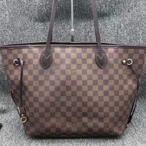 Louis Vuitton 路易·威登H19433棕棋盘NF女士手提包