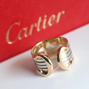 Cartier 卡地亚2C天使之吻黄金白金玫瑰金戒指