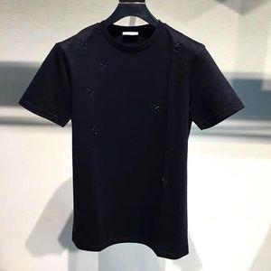 Dior 迪奥19春夏新款3D蜜蜂串珠刺绣男士奢侈品短袖T恤衫