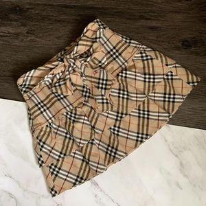 Burberry 博柏利驼色格纹格子半身A字鱼尾短裙