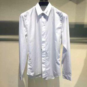 Dior 迪奥19春夏LOGO签名刺绣男士奢侈品暗扣商务休闲衬衫