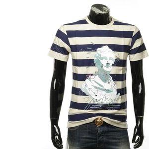 Burberry 博柏利男士夏季条纹图案短袖圆领T恤