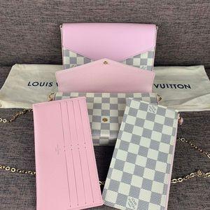 Louis Vuitton 路易·威登最新款樱花粉三合一woc链条包