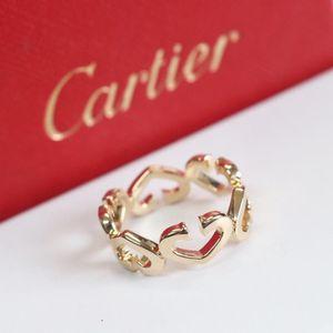 Cartier 卡地亚53号心型18K黄金宽版戒指