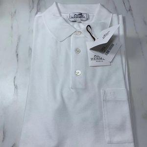Hermès 爱马仕男士纯白色Polo