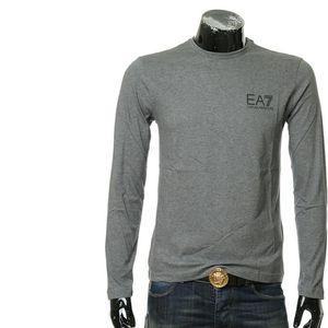 Emporio Armani 安普里奥·阿玛尼背部字母男士长袖T恤