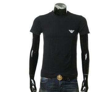 Emporio Armani 安普里奥·阿玛尼鹰标男士圆领短袖T恤