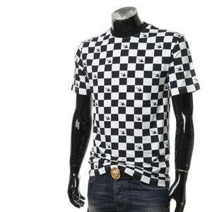 Alexander McQueen 亚历山大·麦昆菱格拼色男士燕子短袖T恤