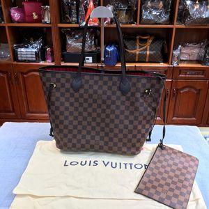 Louis Vuitton 路易·威登棕棋盘格购物袋