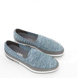 PRADA 普拉达夏季男士一脚蹬休闲鞋