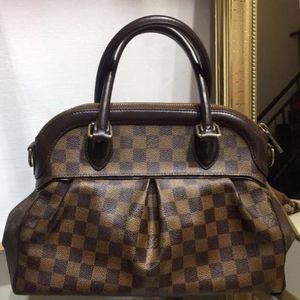 Louis Vuitton 路易·威登中号棋盘格PU手提包