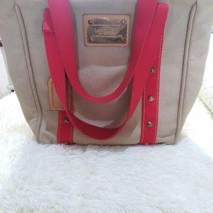Louis Vuitton 路易·威登米色帆布手提包
