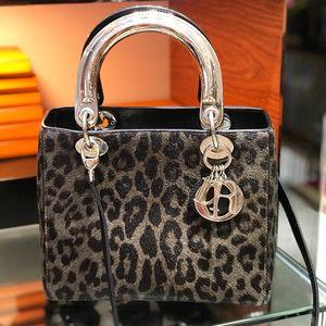 Dior 迪奥豹纹五格手提包