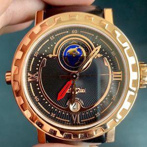 DeWitt 迪威特双时区18k玫瑰金限量收藏级男士腕表