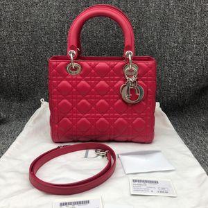 Dior 迪奥H19520红色戴妃五格包