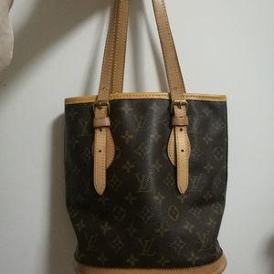 Louis Vuitton 路易·威登老花小水桶手提包
