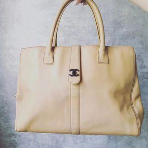 CHANEL 香奈儿米色手提包