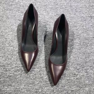 Bottega Veneta 葆蝶家酒红女款高跟鞋