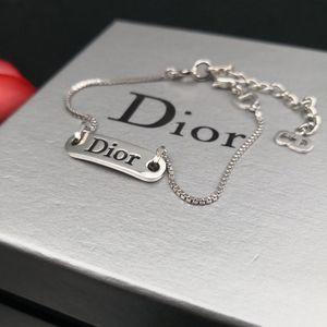 Dior 迪奥银色牌子手链