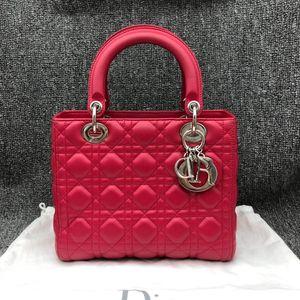 Dior 迪奥红色戴妃五格包