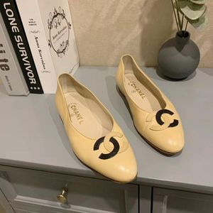CHANEL 香奈儿奶茶色平底鞋