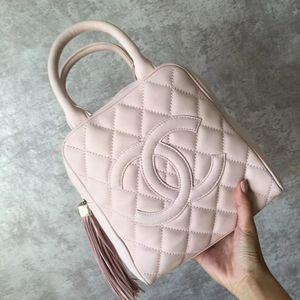 CHANEL 香奈儿樱花粉色手提包