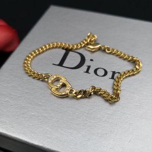 Dior 迪奥金色带钻CDLogo手链