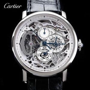 Cartier 卡地亚W1580017 铂金万年历陀飞轮机械表